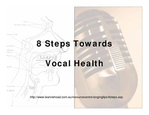 VTC - 8 Steps Vocal Health TIPS