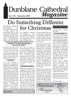 Dunblane Cathedral Magazine December 2007