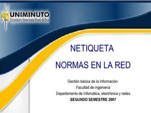 Netiqueta. normas en la red