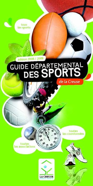 Guide départemental des Sports en Creuse