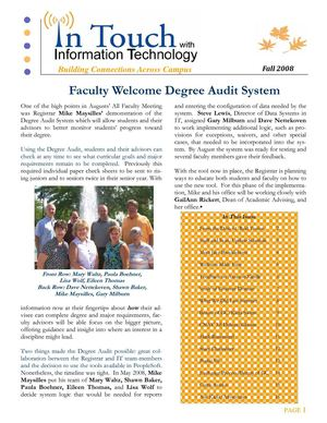 In Touch with Information Technology - Fall 2008 - Gettysburg College
