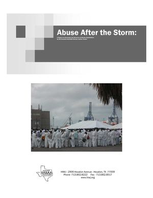 Abuse After the Storm: A Report on Hurricane Ike Recovery & Worker Exploitation