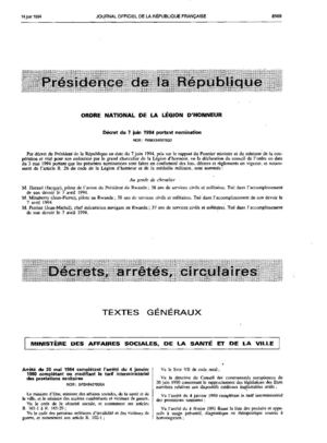 Journal Officiel du 14 juin 1994 - France -