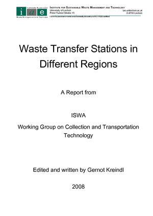 REPORT ON TRANSFER STATIONS