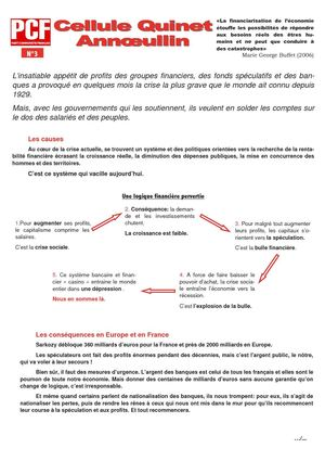 Tract n°3 Cellule Quinet PCF Annoeullin