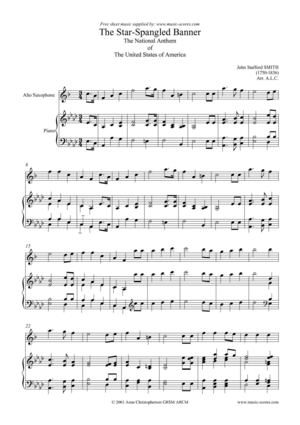 Calameo Star Spangled Banner Alto Sax