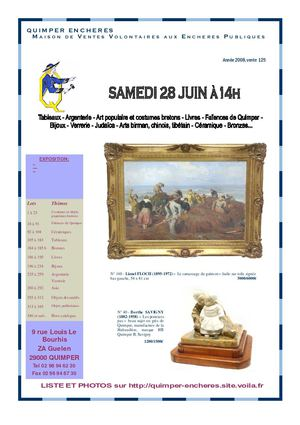CATALOGUE DE VENTE