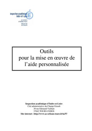 Outils aide personnalisée IA37