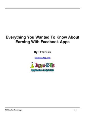 Everything You Wanted To Know About Earning With Facebook Apps