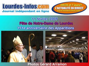 Messe internationale du 11 février 2009 à Lourdes