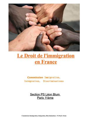 Le droit de l'immigration en France
