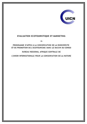 Evaluation Ecotouristique & Marketing Basin Congo - UICN & BAfD - 2008