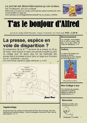 T'as le bonjour d'Alfred n °5