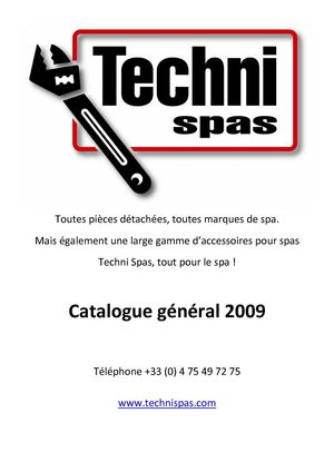 CATALOGUE TECHNISPAS 2009 FR