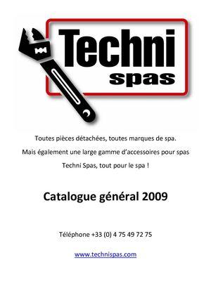 Calaméo - CATALOGUE TECHNISPAS 2009 FR on