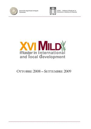 Brochure XVI Master in International and Local Development Stoà