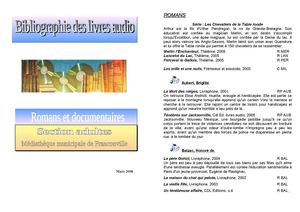 Livres cd adultes Mars 2008