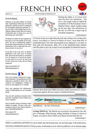French Info issue 3