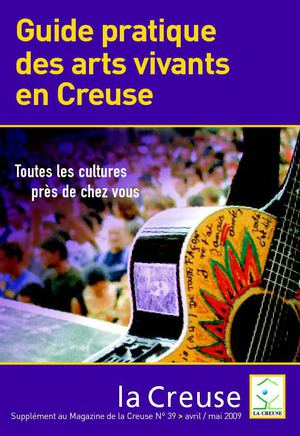 Guide pratique des arts vivants en Creuse - avril 2009