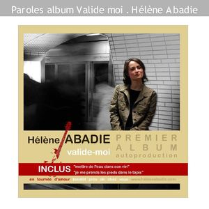 Paroles album Valide moi - Hélène Abadie