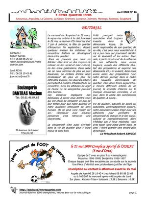 Toulouse7notrequartier journal n°26