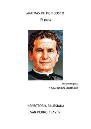 MAXIMAS DE DON BOSCO IV