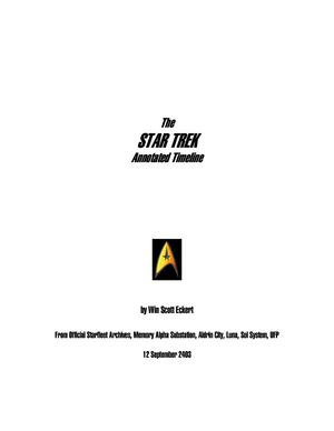 The Star Trek Annotated Timeline