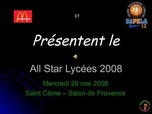 All Star Lycées 2008 sponsor