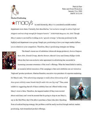 Market Positioning Analysis: Macy's