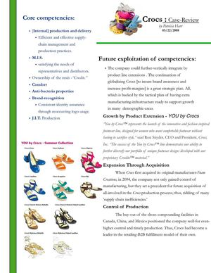 CROCS: Case Study Review