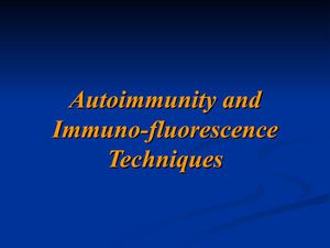 Autoimmunity and IIf Tech