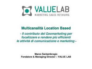 Multicanalità Location Based