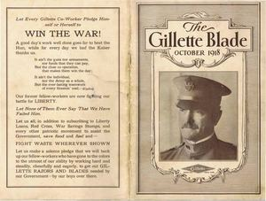 The Gillette Blade, October 1918, Vol. 1 No. 12 (low resolution)