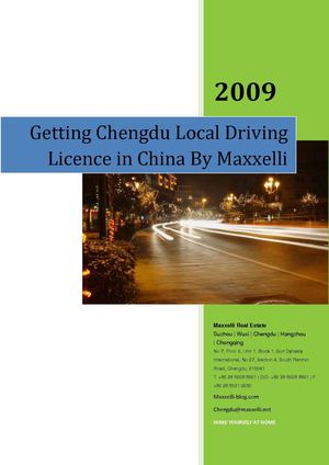 How to get Local Driving driver's licence in Chengdu China by Maxxelli