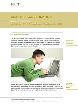 Join the conversation | Social Media Relations | White Paper