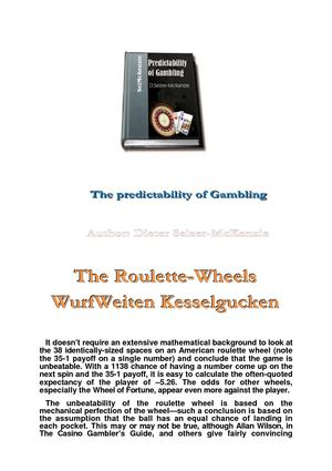 Predictive Calculability of Gambling for Roulette and Poker