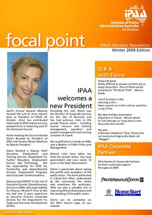 IPAA's focal point Winter Edition July 2009