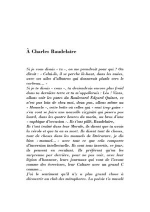 À Charles Baudelaire