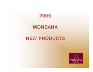 MONBANA NEW PRODUCTS 2009