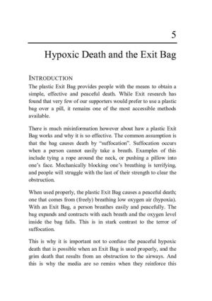 Hypoxic Death and the Exit Bag
