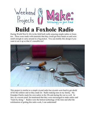 Weekend Projects - Build a Foxhole Radio