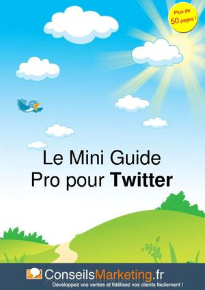 """Le Mini Guide Pro pour Twitter"" par ConseilsMarketing.fr"
