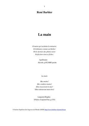 Calaméo Suite De Poèmes Sur Le Thème De La Main