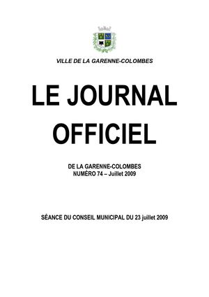 Journal Officiel 74