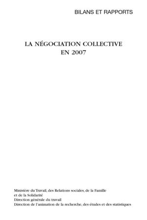 La négociation collective en 2007