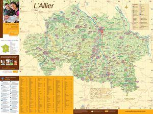 Calam o carte touristique de l 39 allier - Office de tourisme allier ...
