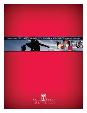 Ball State University Alumni Association Annual Report 2008-09