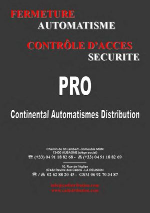 Catalogue Continental Automatismes Distribution