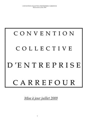 Convention collective Carrefour juillet 2009