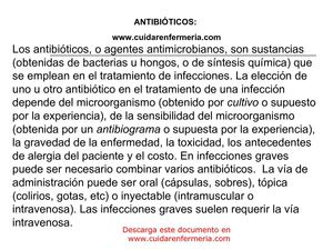 antibioticos part1, www.cuidarenfermeria.com